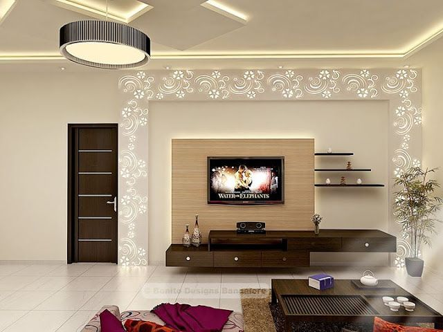 Contemporary tv units with cnc decorating ideas tv - Modern tv wall unit designs for living room ...