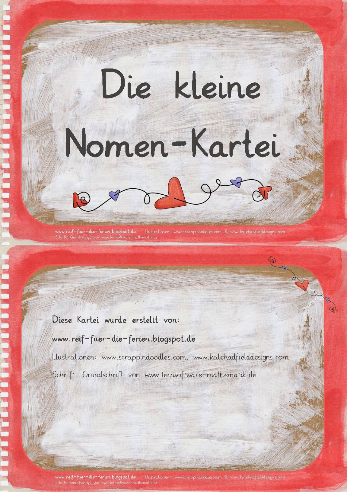 Die kleine Nomen-Kartei | DİLLER | Pinterest | Deutsch, School and ...