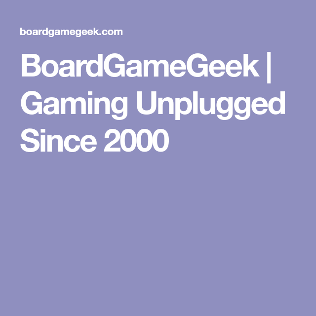 BoardGameGeek | Gaming Unplugged Since 2000 | e bay | Thrift