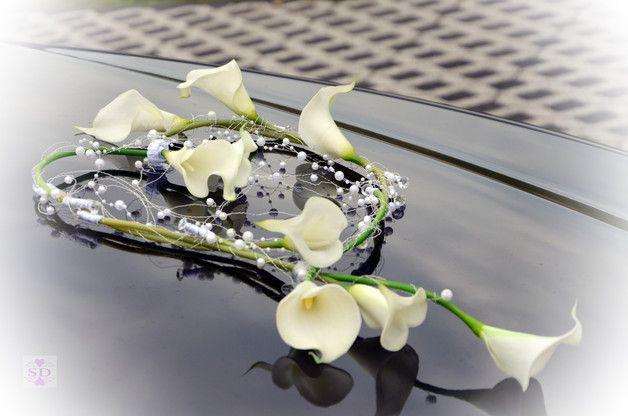 Autoschmuck Calla in Love  Hochzeit Blumen in 2018