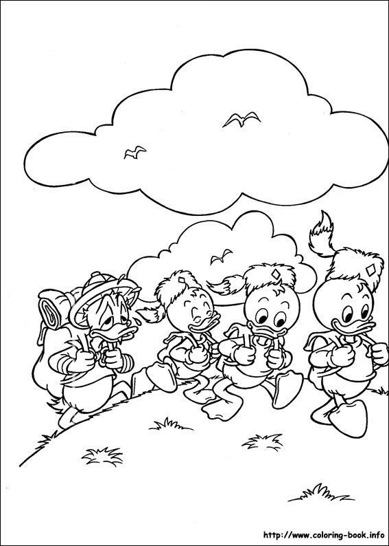 donald duck face coloring pages
