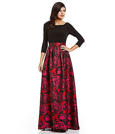 7240ede6b0 I want this dress so bad!!! Adrianna Papell Floral Jacquard Gown ...