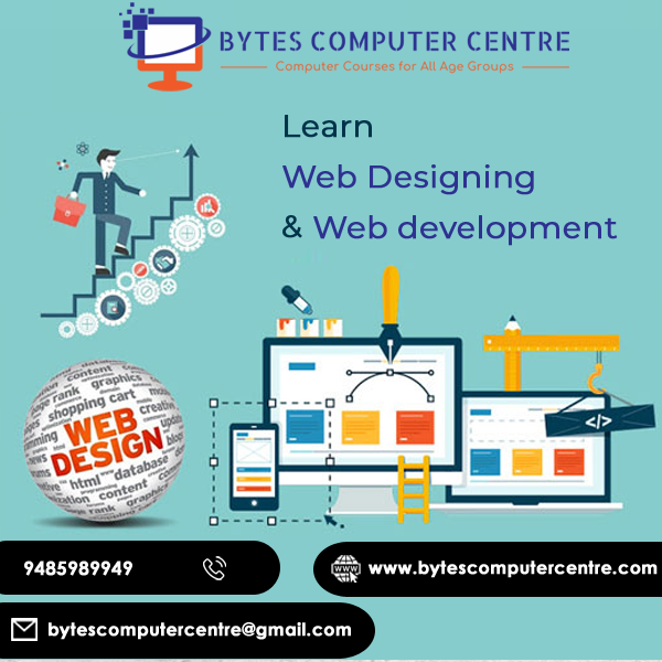 Bytes Computer Centre Is No 1 Computer Training Institute In Ambala Offering Web Designing Training In Ambala Web Design Training Web Design Web Design Jobs