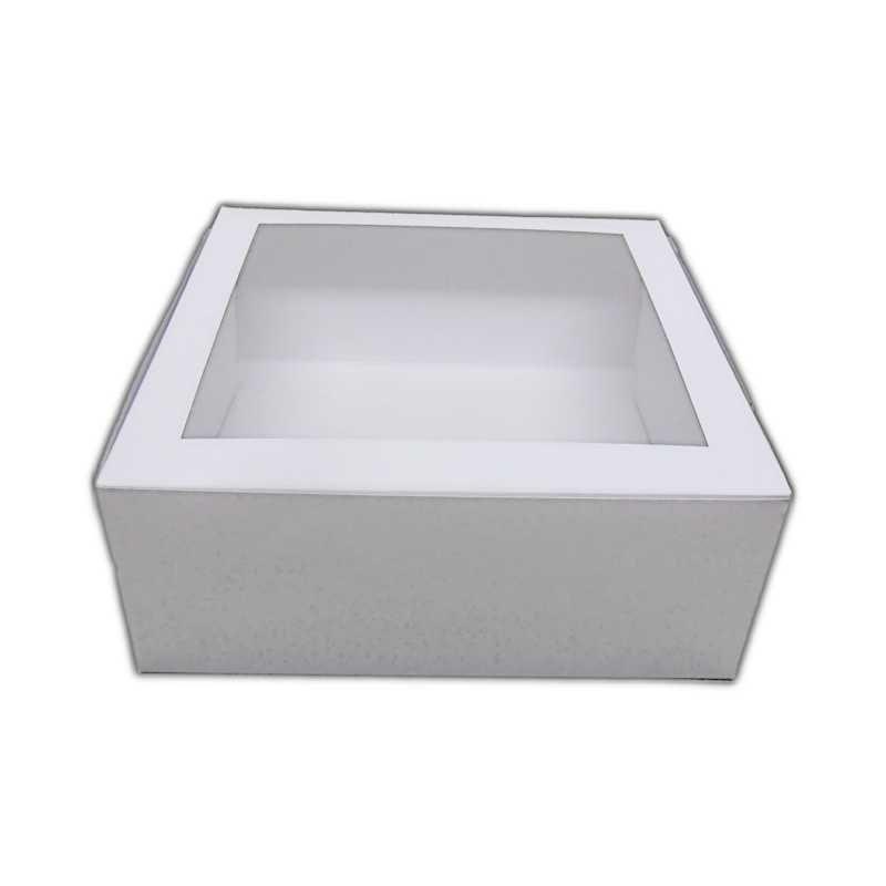 Wckb1010 Cake Box With Window 10 X 10 X 4 Inch X 100 Box Cake 10 Things Biodegradable Products