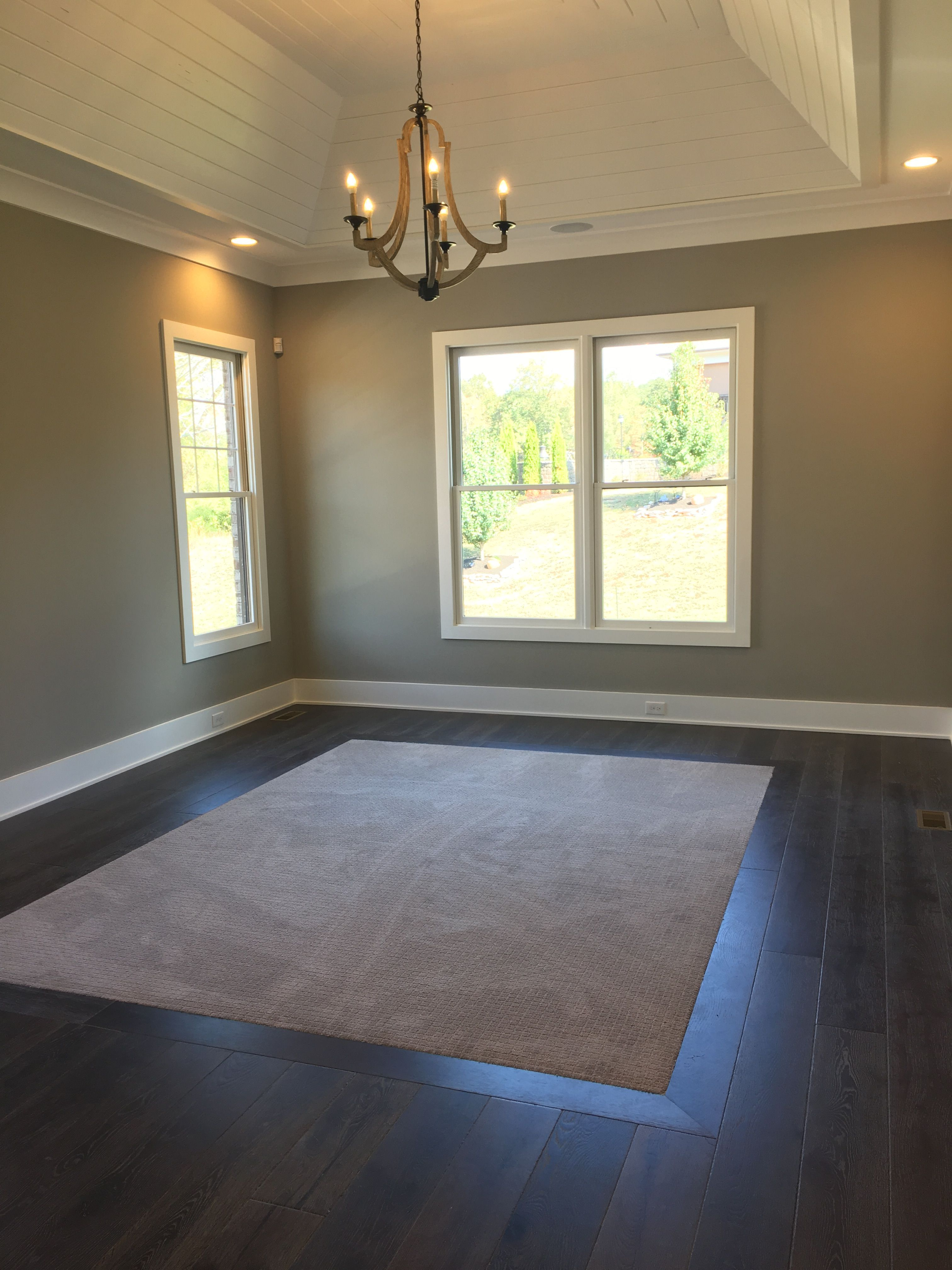 Love the carpet inlay in master  Neat DIYers in 2019  Bedroom flooring Living room carpet