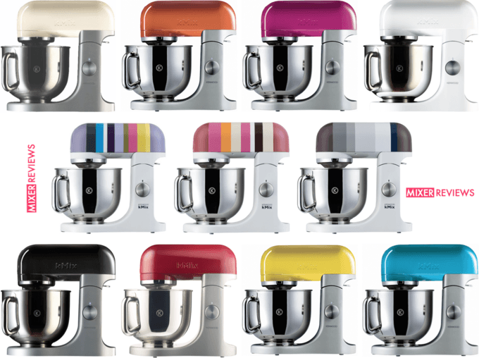 Populære All the Kenwood kMix stand mixer colours. Almond (cream), papaya EB-26