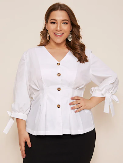 Pin By Fatima Elshafei On Blouses Plus Size Fashion For Women Plus Size Blouses Plus Size Outfits