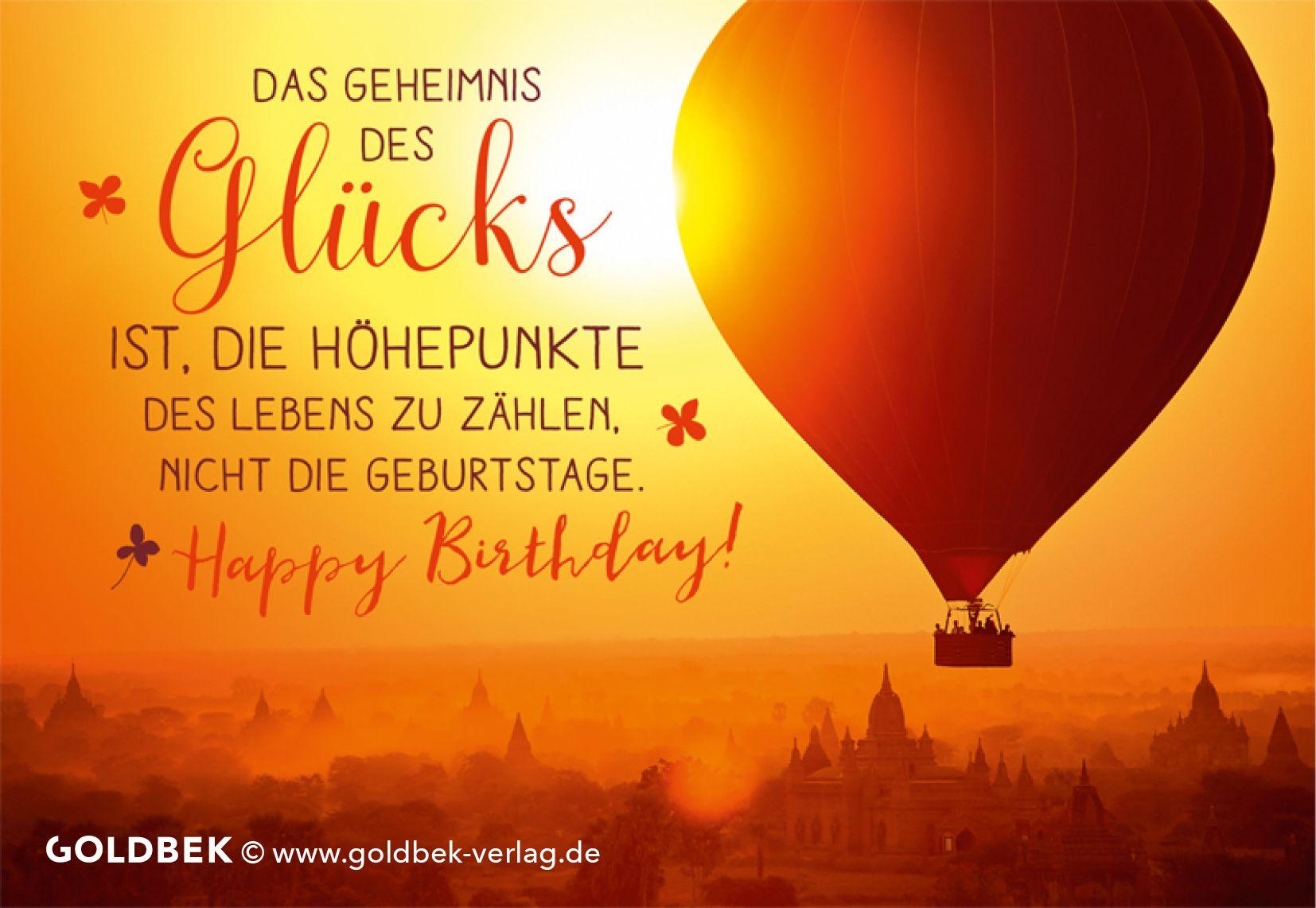 Postkarten - Geburtstag. Das Geheimnis des Glücks ...