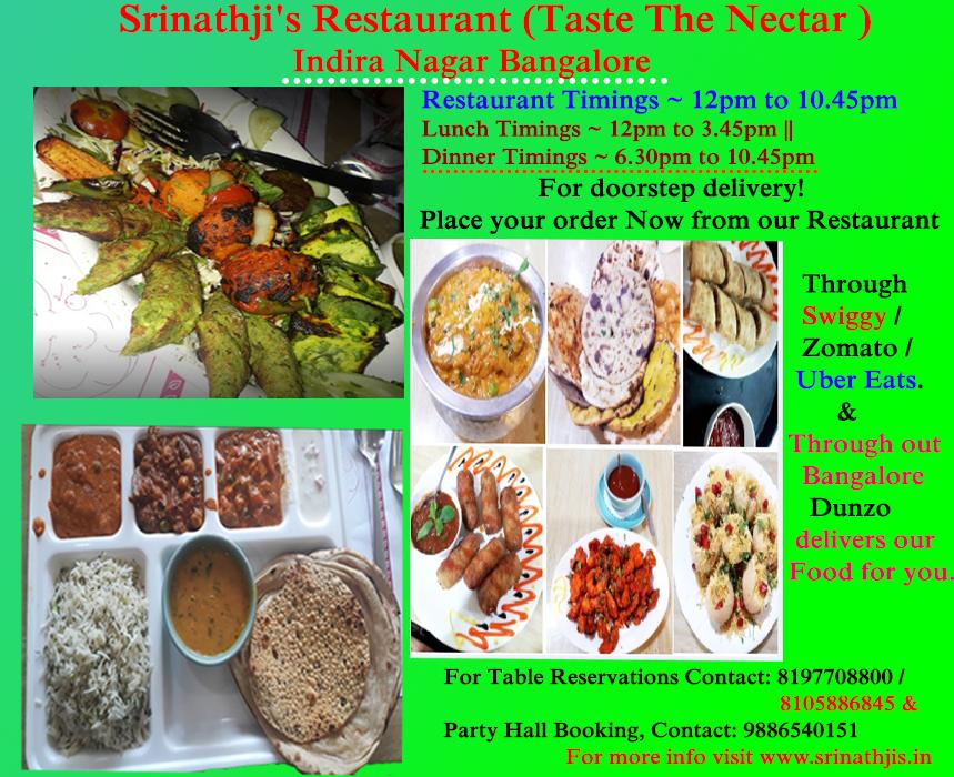 Srinathji S Restaurant Taste The Nectar Indira Nagar Veg Restaurant Vegan Restaurants Vegan Restaurants Near Me