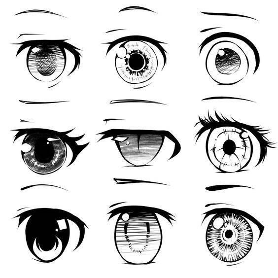 Como aprender a dbujar anime y manga a lapiz 3 anime pinterest different ways to draw anime eyes mais ccuart Image collections
