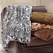 Animal Print Oversized Throws: Available In Zebra Print, Leopard Print, Cow Print and Giraffe Print -Sale $14.99
