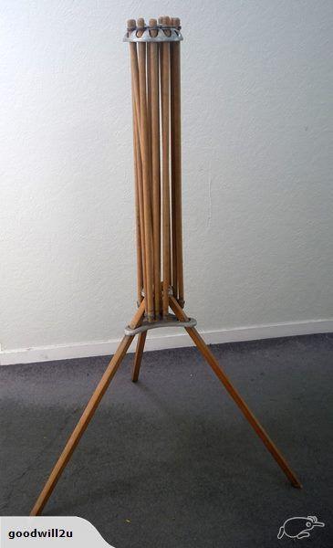 Drying Rack Umbrella Style Wood Laundry