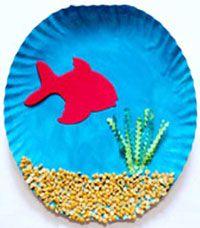DIY Paper Plate Fish Tank