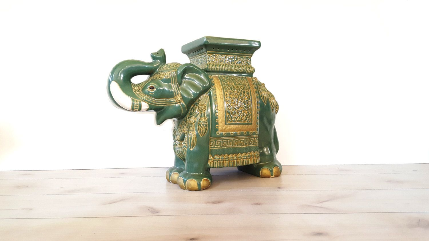 Large Elephant Garden Stool Side Table Plant Stand
