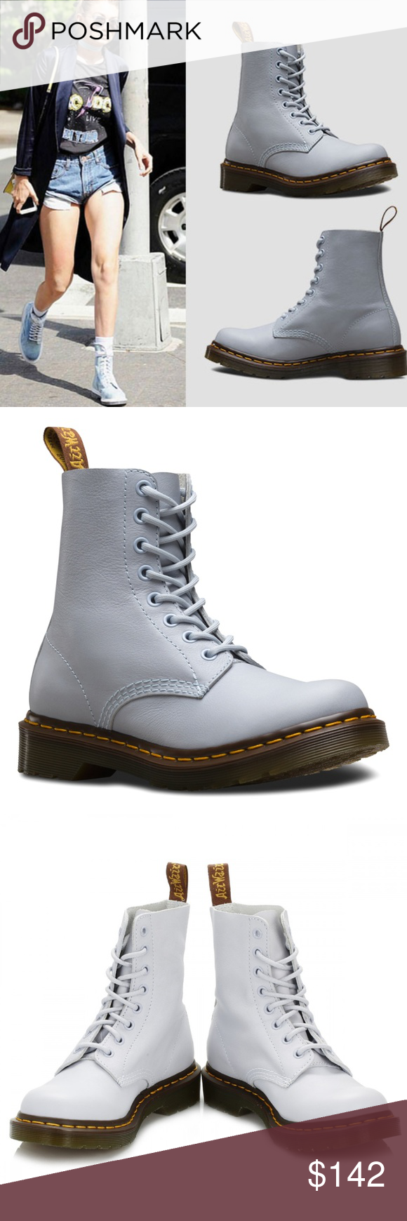 Dr. Martens Blue Moon Pascal Virginia Leather Boot NWT