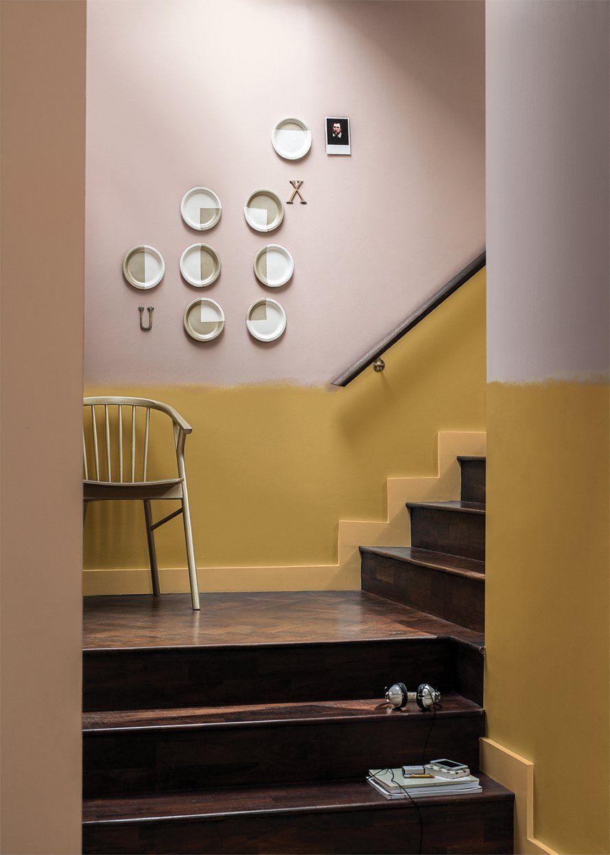 Belles Couleurs Pour Animer Un Escalier Pintura Interior Casa Pintura De Interiores Pinturas De Casas