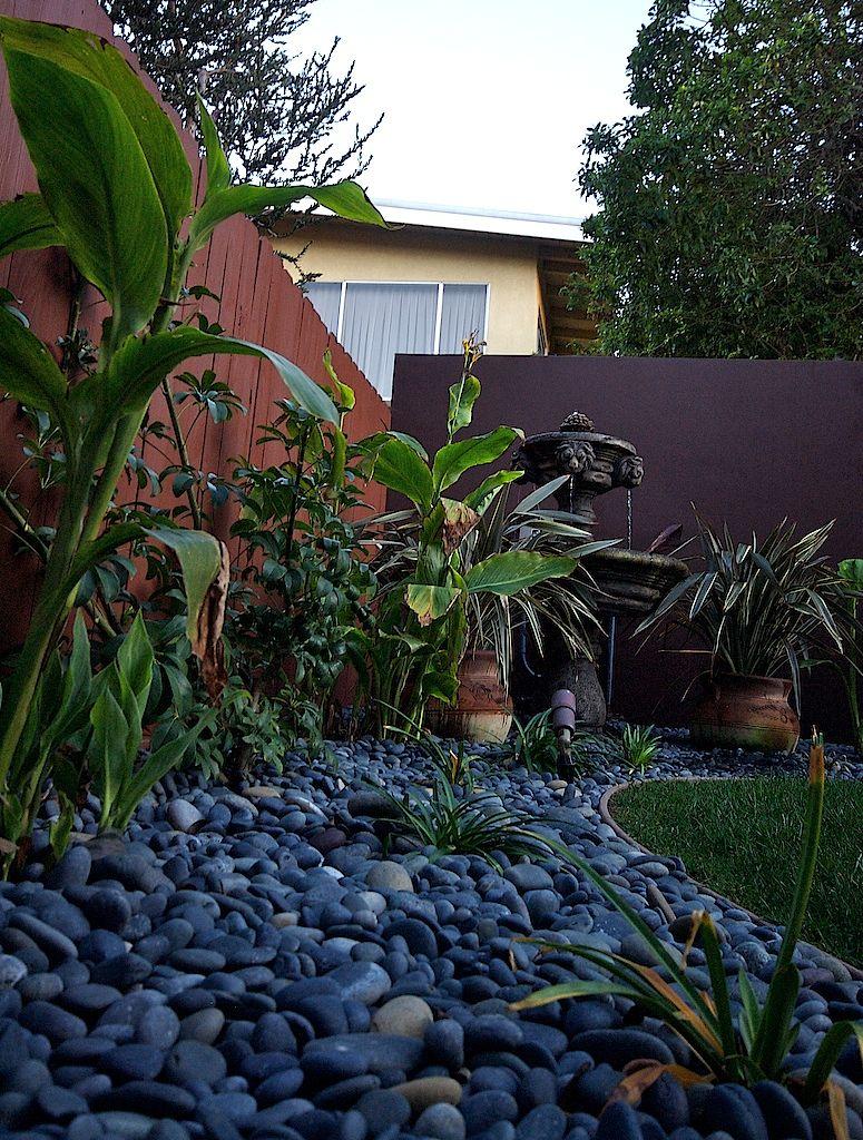 beautiful ventura california backyard with new planting fountain