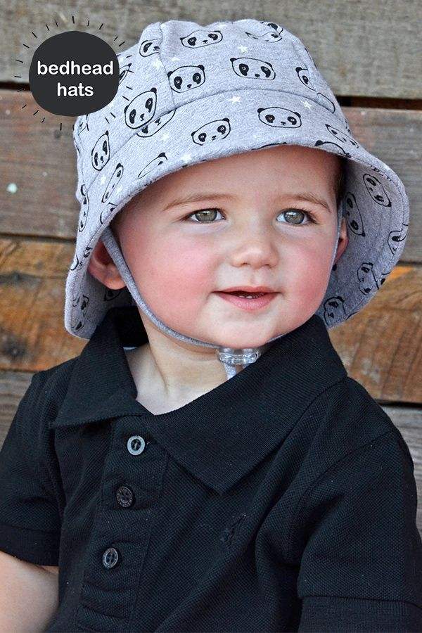 32a04d10bdd Bedhead s baby bucket hat in  Pandas  print has a UPF 50+ sun protection  rating with a chin strap - perfect for active children!  bedheadhats   kidshats   ...