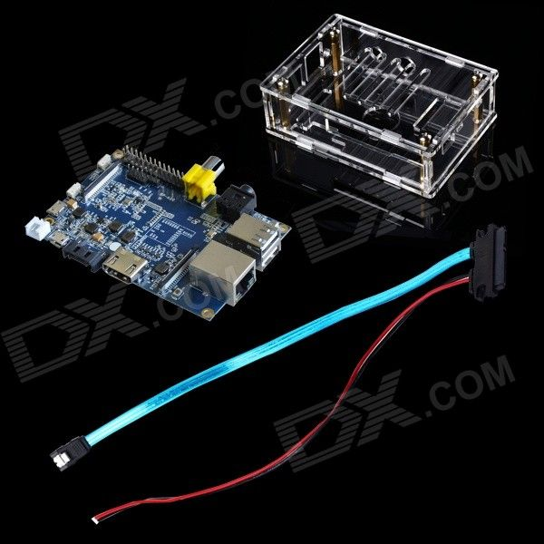 FineSource DIY-B Banana Pi Board + SATA Cable + Acrylic Box for Banana Pi - Blue + Transparent. . Tags: #Electrical #Tools #Arduino #SCM #Supplies #Boards #Shields