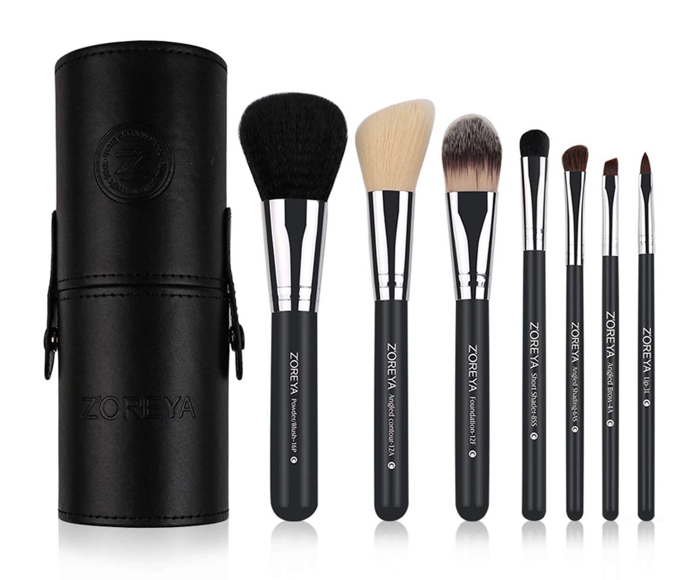 Photo of Makeup Brush Set Black Cone- 7 Zoreya Professional Makeup Brushes With Premium S…