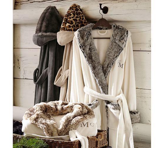 203ab443a2 Cozy Fur Robe - Chinchilla