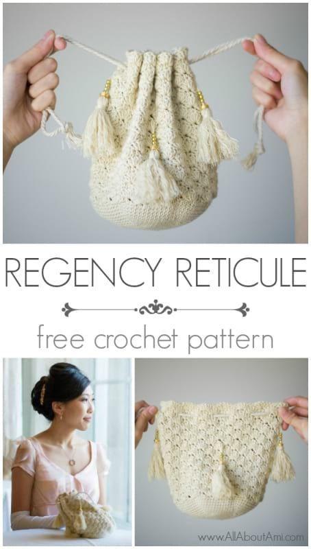 Crochet Regency Reticule | Pinterest | Bolsos, Carteras tejidas y ...