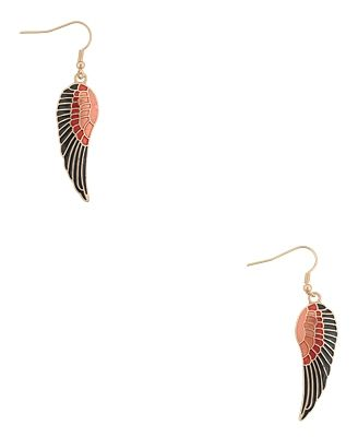Lacquered Angel Wing Earrings - StyleSays