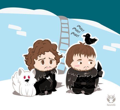 Cute Jon and Sam cartoon style fan art by... / Game of ...