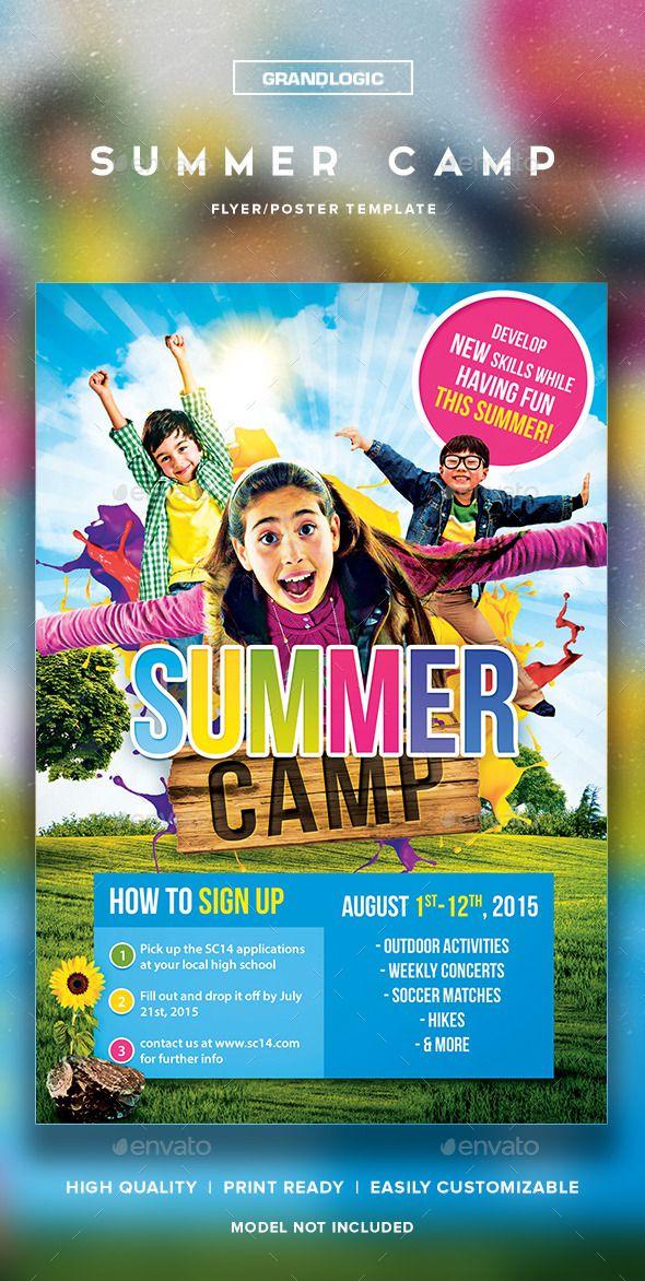 summer camp flyerposter flyer printing print templates