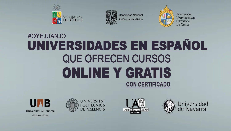 Universidades En Espanol Que Dictan Cursos Online Gratis