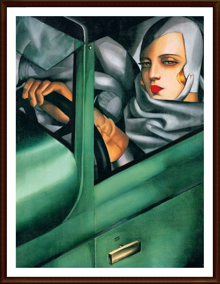 my portrait (self-portrait in the green bugatti), 1929 tamara de