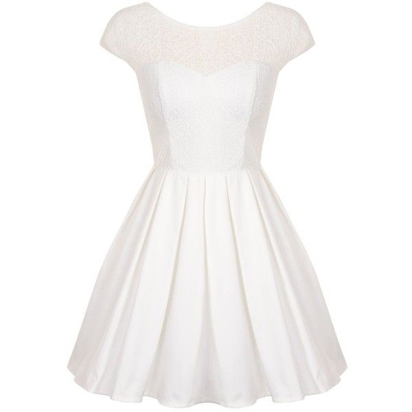 Chi Chi London Lace Cap Sleeve Fit & Flare Skater Dress found on ...