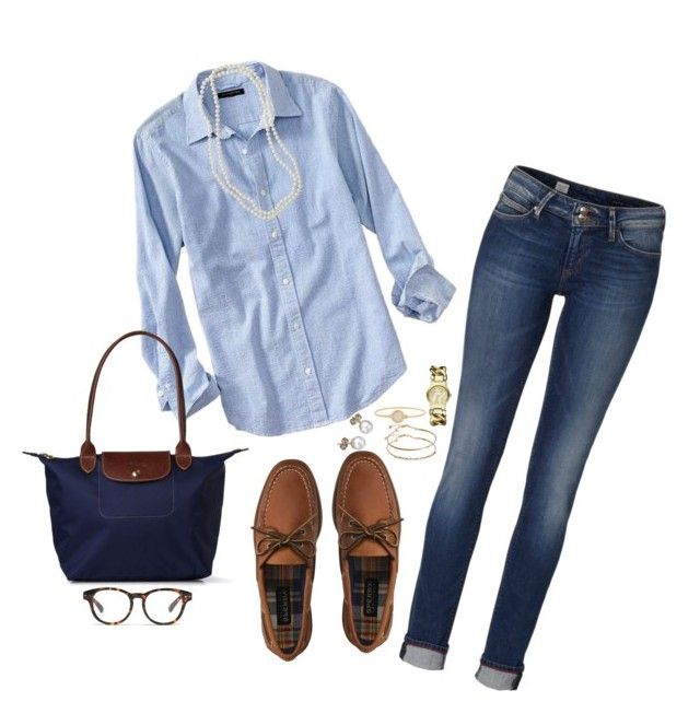 Classic Prep by classycathleen ❤ liked on Polyvore featuring Banana  Republic, Sperry, Tommy Hilfiger, London Road, ASOS, Nordstrom, Longchamp,  Madewell, ... b02fe7d16828