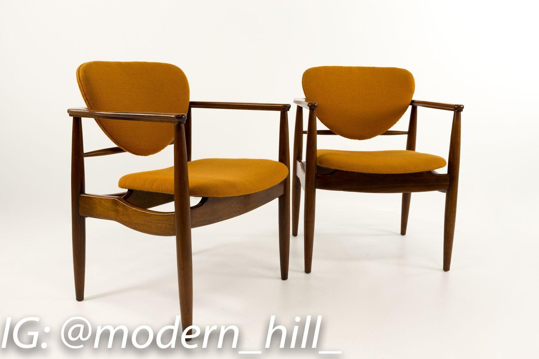Walnut Captains Modern Chairs Chair Midcentury Modern