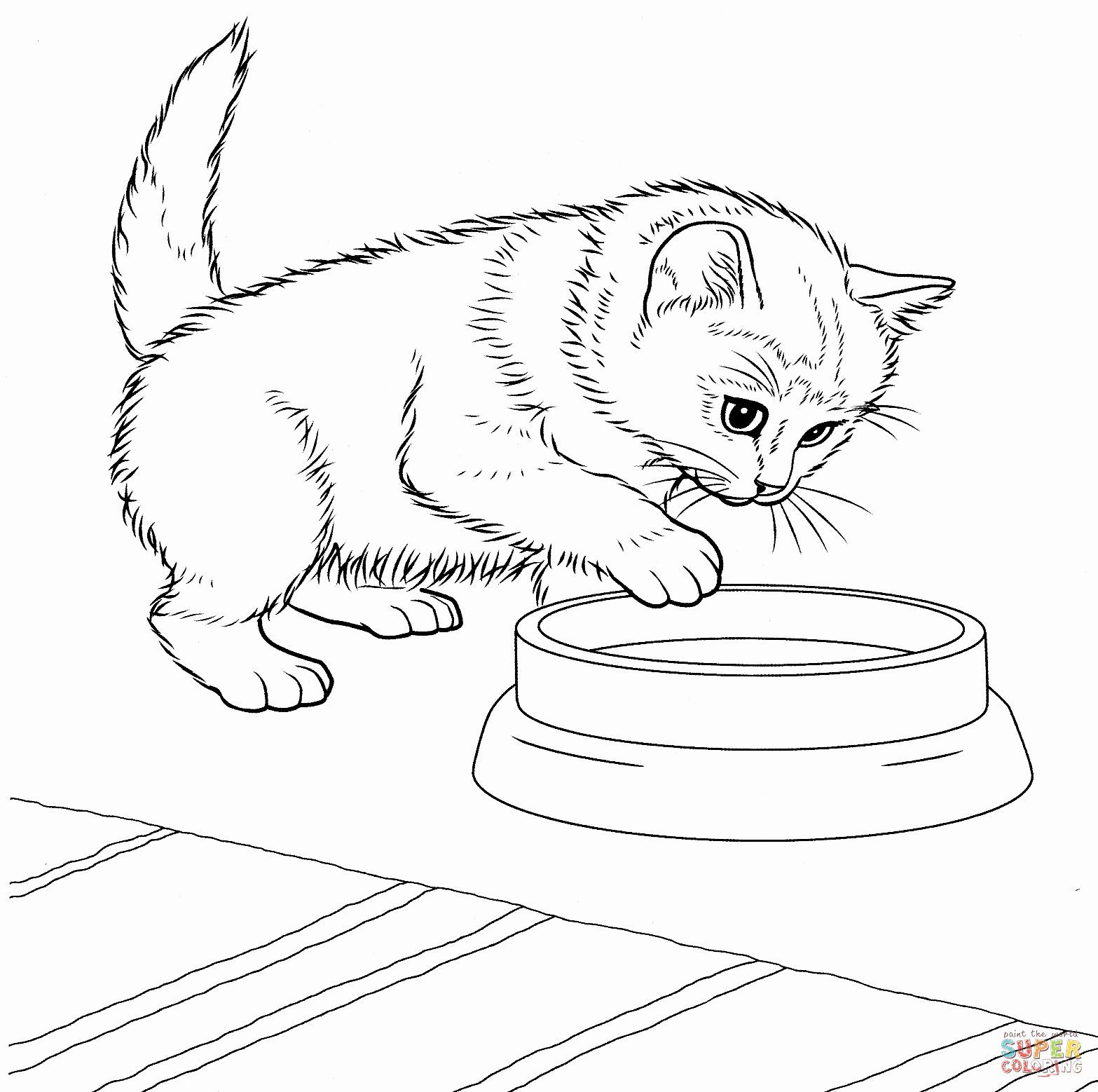 Kitty Cat Coloring Page Lovely Javanese Kitten Coloring Page Kitten Coloring Book Puppy Coloring Pages Kittens Coloring
