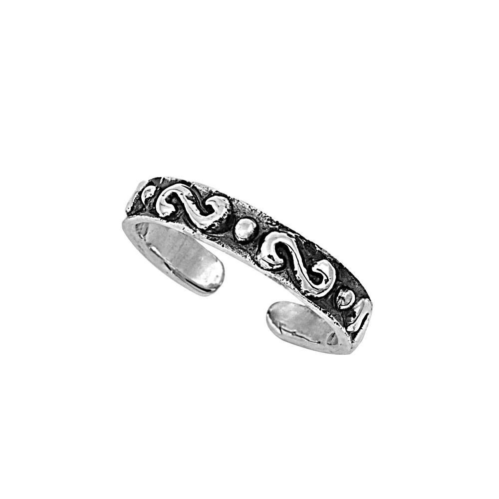Sterling Silver Half Infinity Symbol 3mm Toe Ring Knuckle Mid