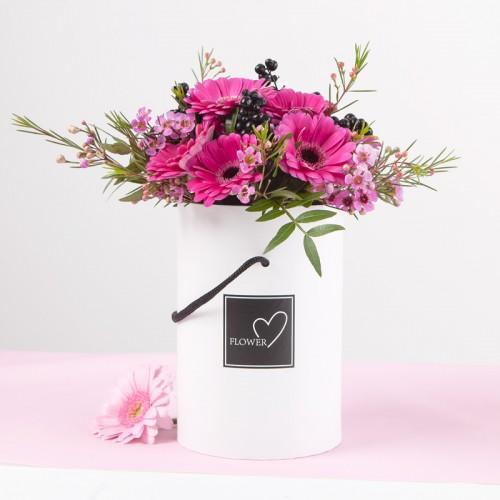 Flowerbox Podziekowanie Dla Swiadkow Rodzicow Bialy Glassware Glass Vase Flowers