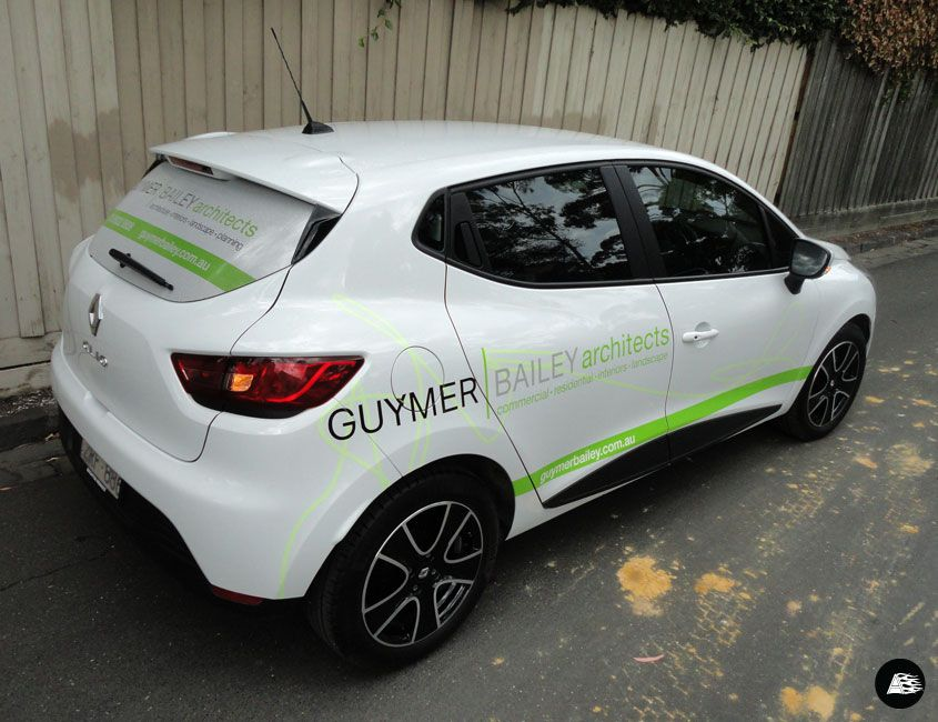 Partial Vehicle Wrap Renault Clio Printed Rear Window Vehicle