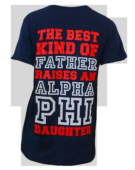 672cb154 Alpha Phi Dad's Weekend Tee by Adam Block Design | Custom Greek Apparel &  Sorority Clothes | www.adamblockdesign.com