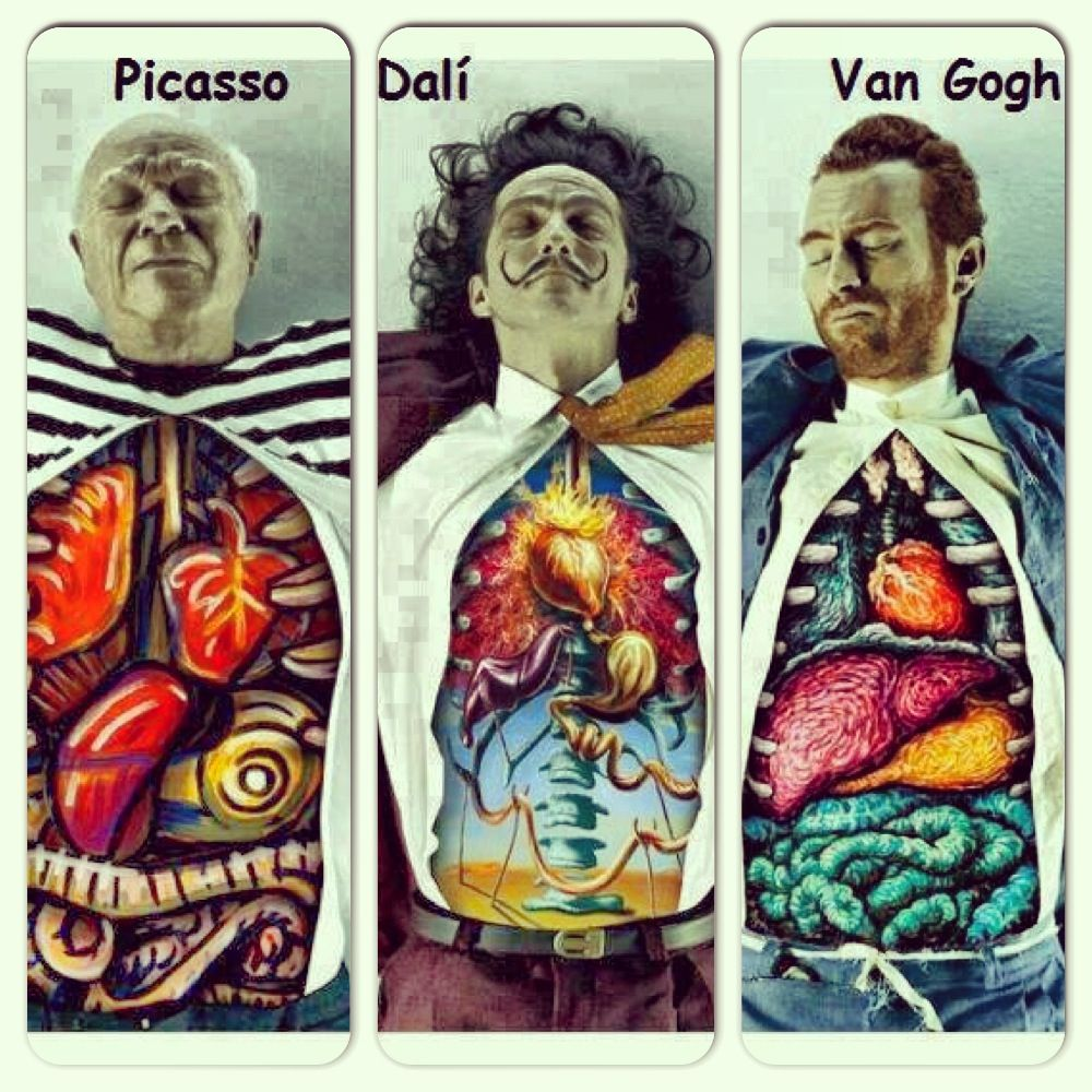 Dissected: Dali, Picasso & van Gogh / Marcos Falcão x DDB Brazil ...