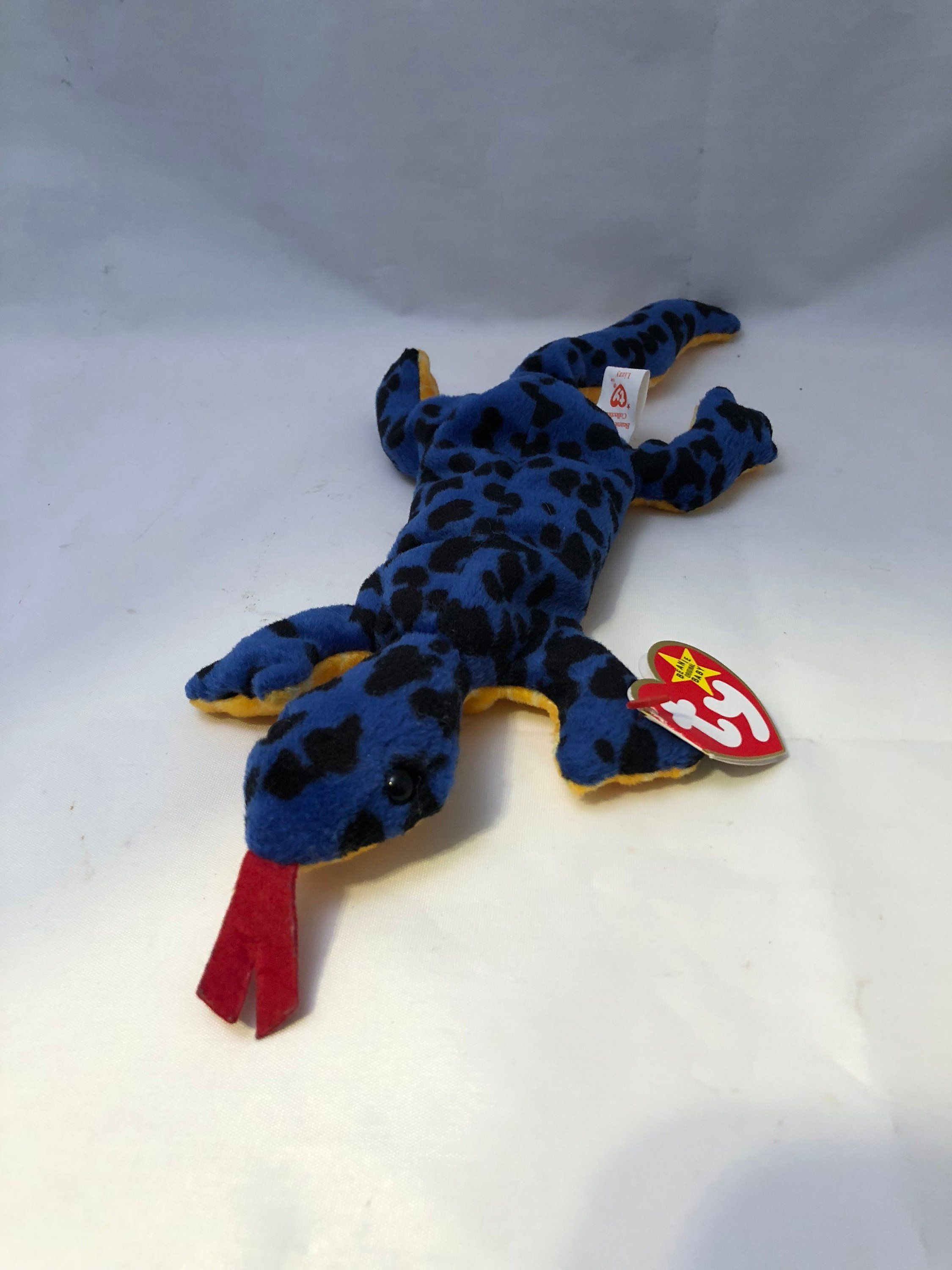 Ty Beanie Baby Babies LIZZY The Lizard New MWMT