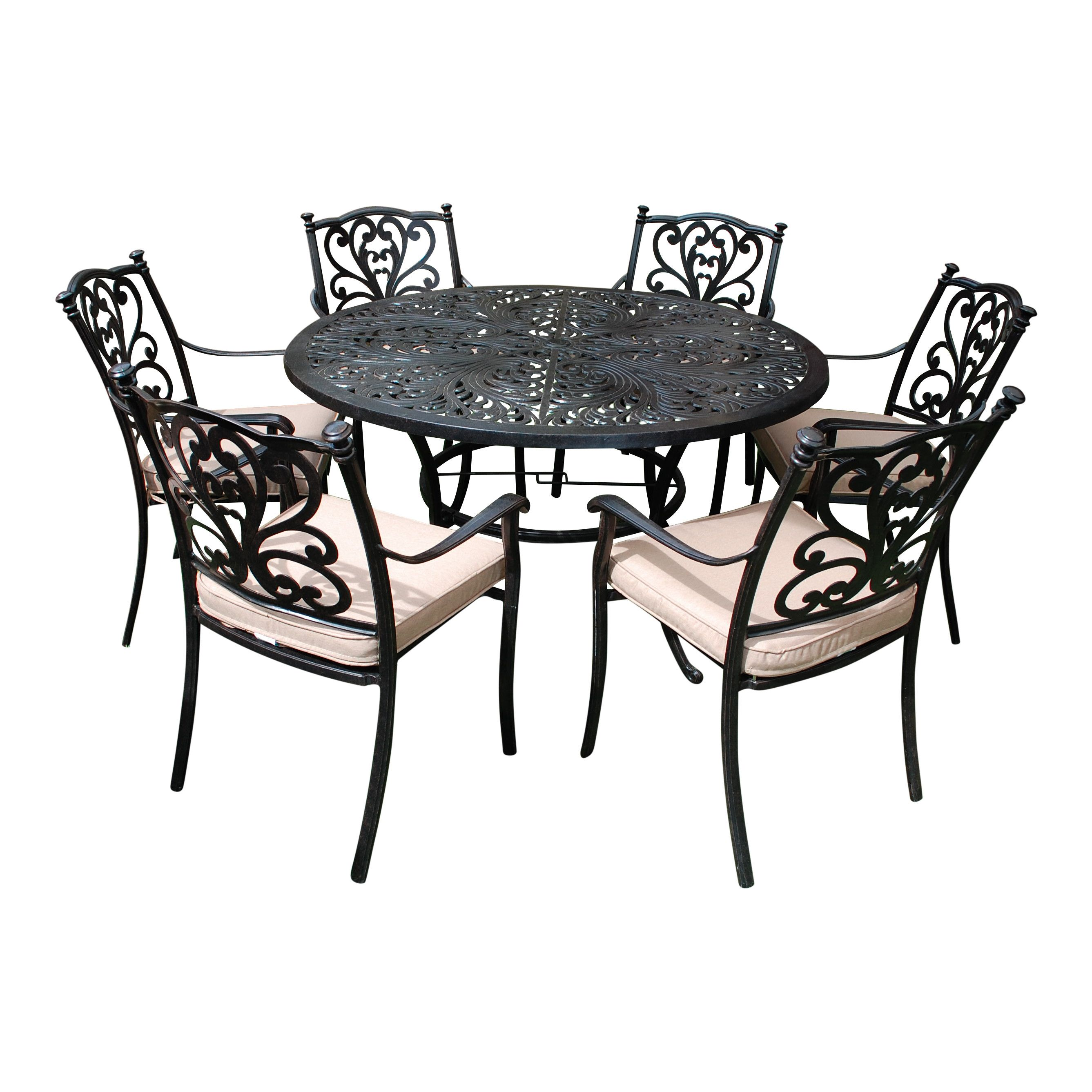 Buy LG Outdoor Devon 6 Seater Round Dining Table Chairs Set Bronze From Our Garden Furniture Sets Range At John Lewis