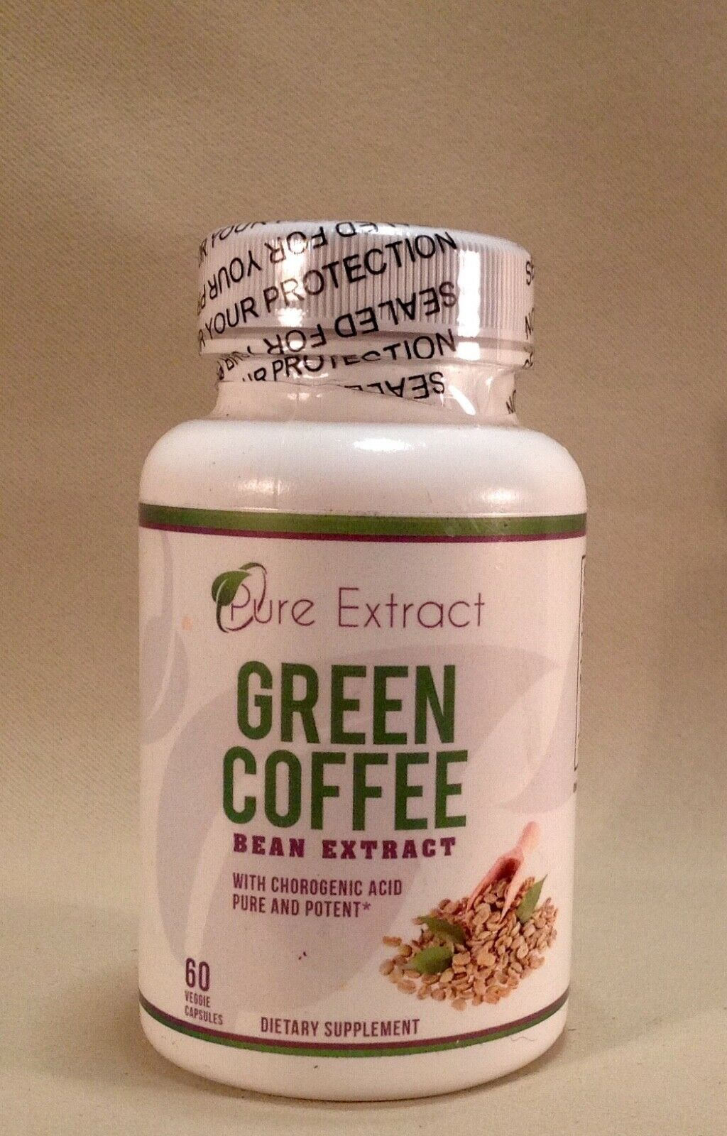PURE EXTRACT Green Coffee Bean Extract 60 Veggie Capsules