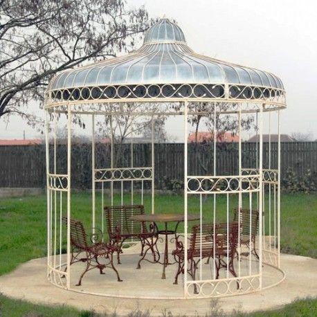 Kiosque De Jardin Circulaire En Fer Diam 3 20m Kiosque Jardin Jardins Meuble Jardin