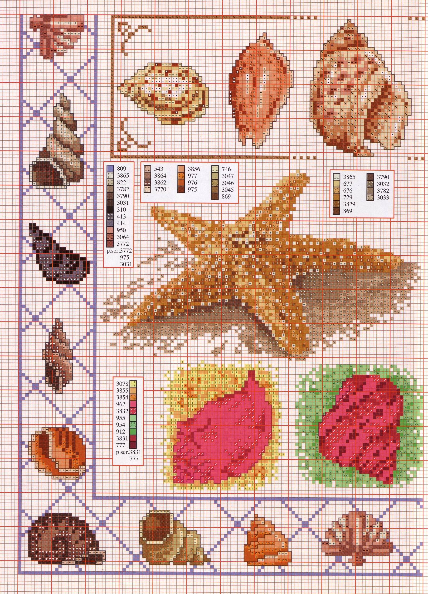 Sea DIY Cross Stitch Pattern Nature Digital Realistic Starfish Starfish