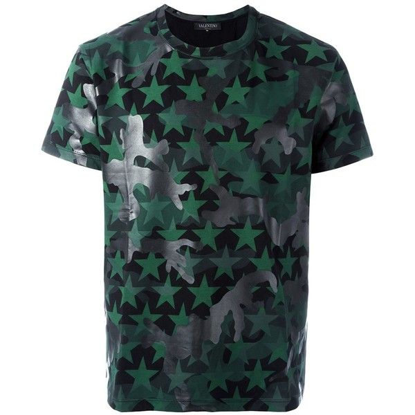Valentino Camouflage T Shirt With Stars Brl Liked