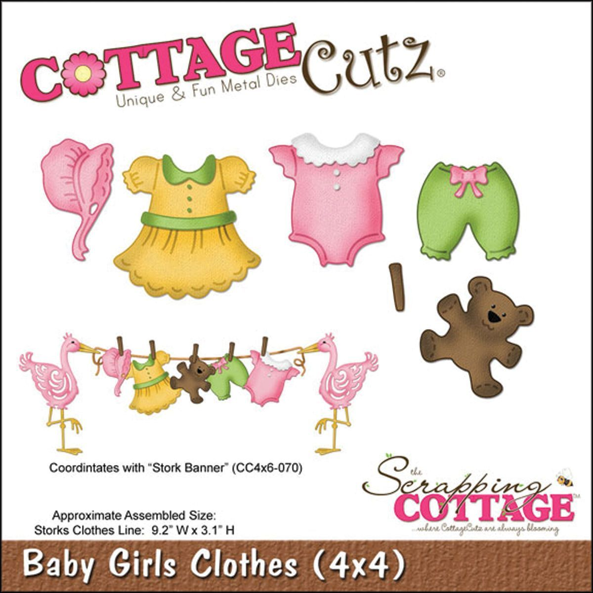 Crafts Metal Baby Girl Dress Clothes Die Cutter