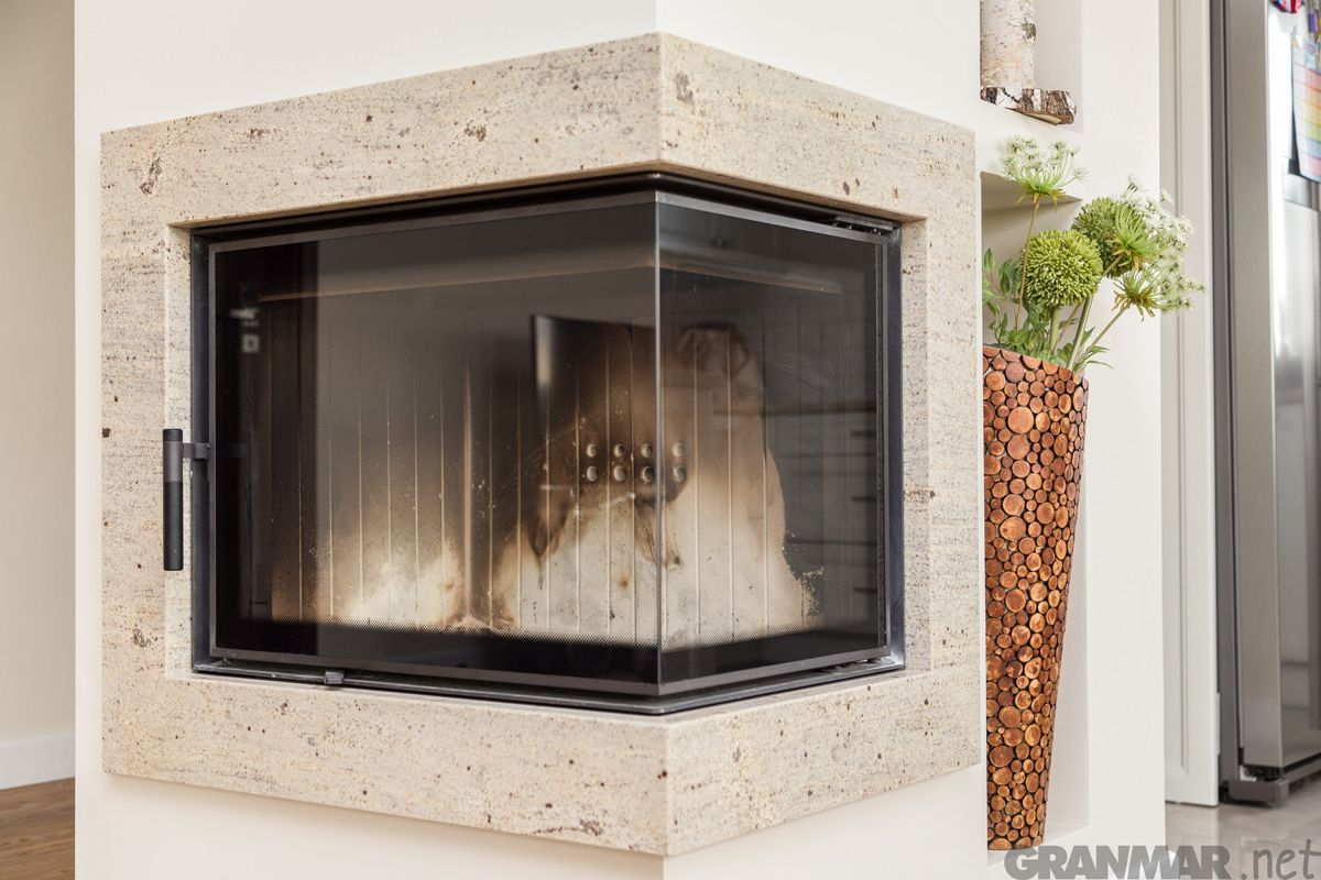 Obudowa Kominka Z Granitu Ivory Cream Fireplace Granite Fireplace Home Decor Granite