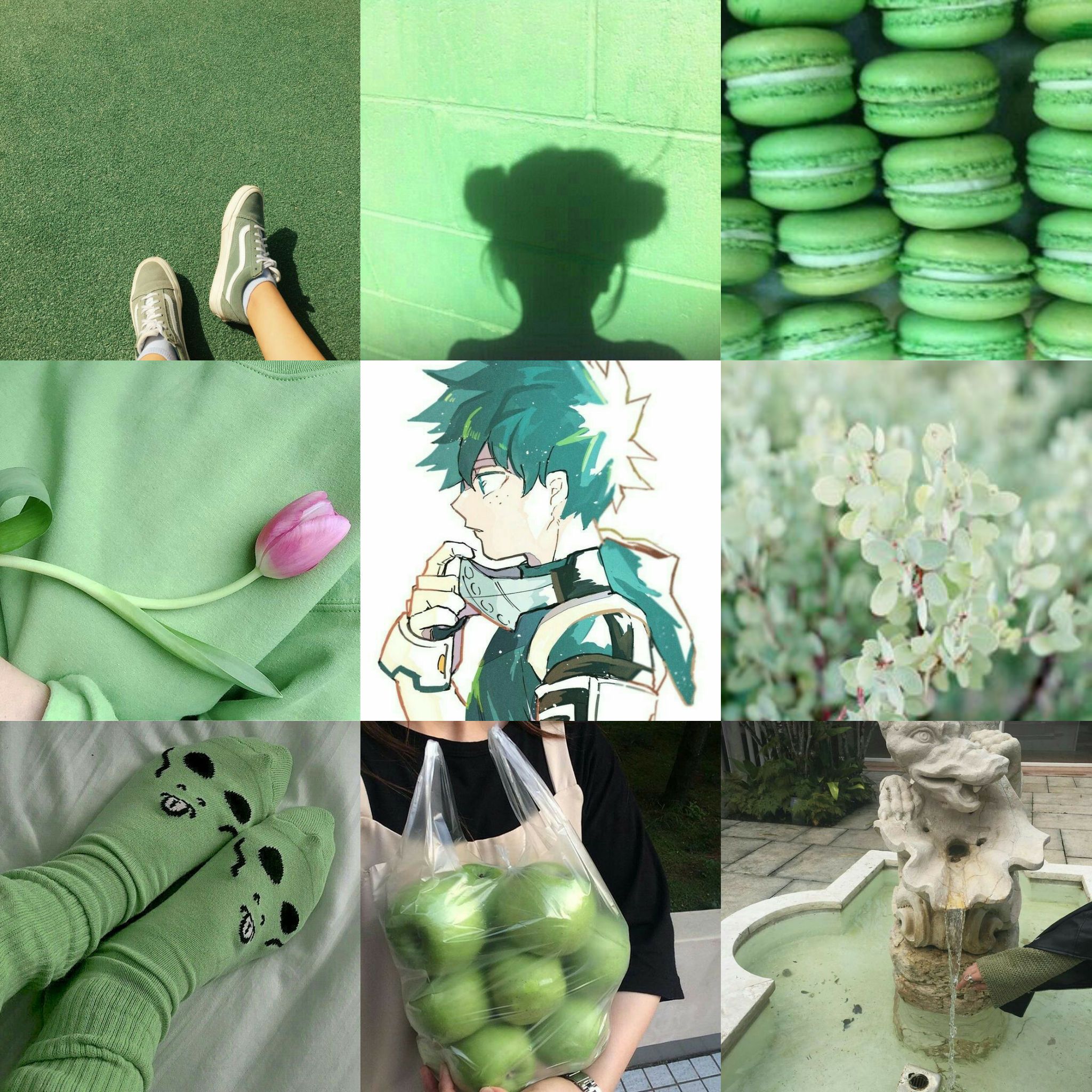 Deku Kun Wallpaper Model 2 Aesthetic Anime Dark Green Aesthetic Green Aesthetic