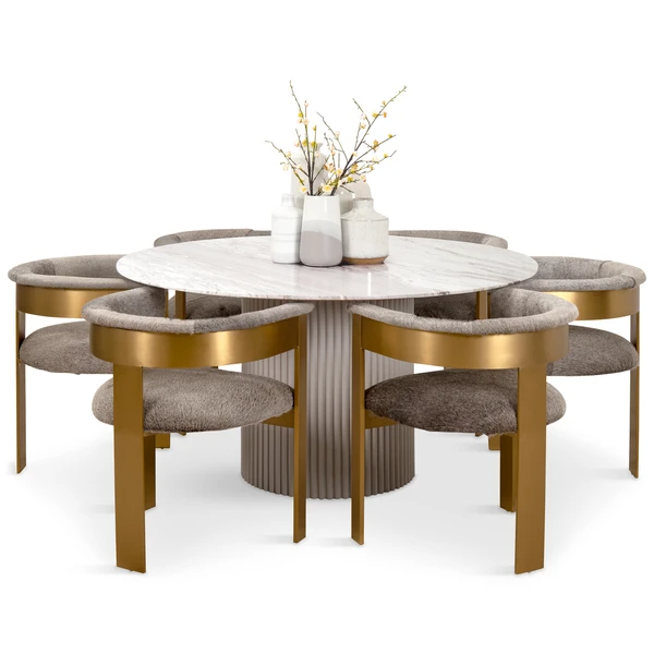 Ubud Round Dining Table Round Marble Dining Table Dining Table Decor Round Dining Table